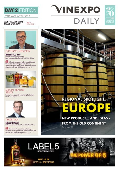 Vinexpo Daily 2018 - Day 2 Edition