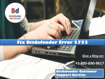 Fix Bitdefender Error 2753