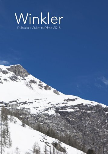 Catalogue Winkler Automne-Hiver 2018