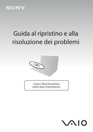 Sony VPCEC1S1R - VPCEC1S1R Guide de dépannage Italien