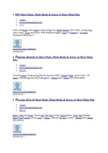 9507 Sheet Music