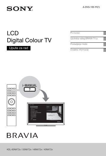 Sony KDL-40NX725 - KDL-40NX725 Consignes d'utilisation Croate