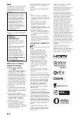 Sony KDL-40NX725 - KDL-40NX725 Consignes d'utilisation Croate - Page 2