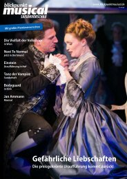 Blickpunkt Musical Saisonvorschau 2015/16 Teil 2