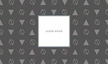 Allison Wilson - Portfolio 2018