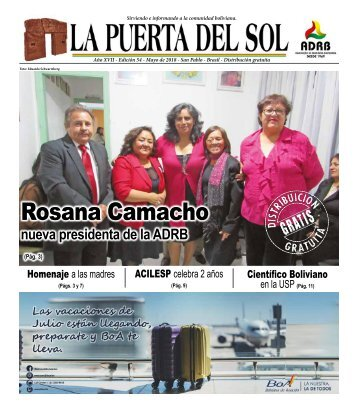 LA PUERTA DEL SOL - ED 54 - Mayo 2018