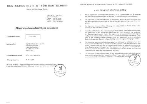 BiLO-feuillard - BiERBACH GmbH & Co. KG Befestigungstechnik