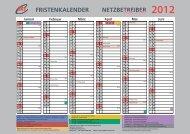 fristenkalender netzbetreiber - BET Aachen