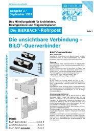 BiLO®-Querverbinder - BiERBACH GmbH & Co. KG ...