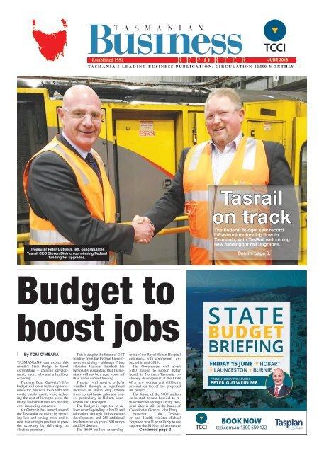 Tasmanian Business Reporter June 2018