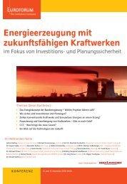 Energieerzeugung mit zukunftsfähigen Kraftwerken - BET Aachen