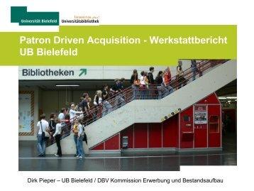 PDA in der Praxis - Deutscher Bibliotheksverband e.V.