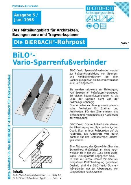 BiLO®- Vario-Sparrenfußverbinder - BiERBACH GmbH & Co. KG ...