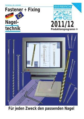 Nagel- technik Fastener + Fixing - BiERBACH GmbH & Co. KG ...