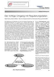 Datenerfassung Effizienzmessung Regulierung - BET Aachen