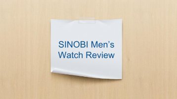 Sinobi Watch Review