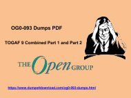Best OG0-093 Dumps, Pass IT Exam quickly | www.dumps4download.com