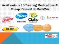 Get ED Medications In Your Budget @ USMeds247