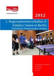 2012 - Berliner Tisch-Tennis Verband