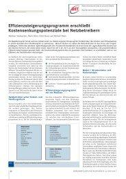 Effizienzsteigerungsprogramm erschließt - BET Aachen