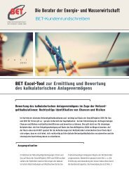 Die Berater der Energie- und Wasserwirtschaft - BET Aachen
