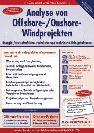 Seminar: Analyse von Offshore-/Onshore-Windprojekten - BET Aachen