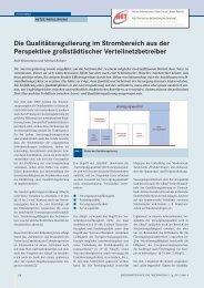 Die Qualitätsregulierung im Strombereich aus der ... - BET Aachen