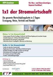 1x1 der Stromwirtschaft - BET Aachen