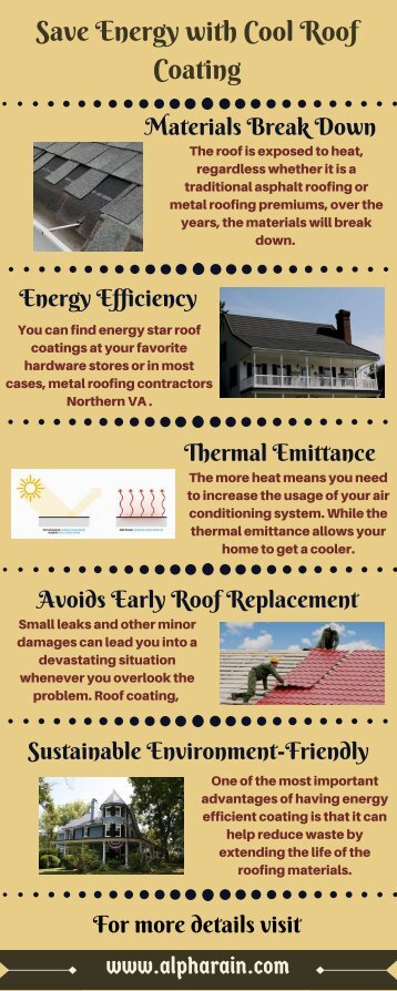 Save Energy with Cool Roof Coating