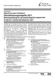 Dienstleistungsentgelte 2011 Weichenstellung für die ... - BET Aachen