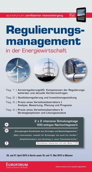 Regulierungs- management - BET Aachen