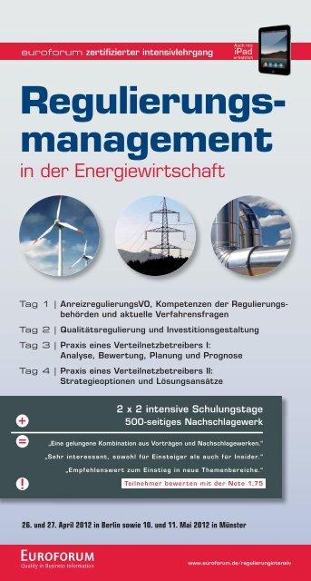 Regulierungs- management - BET Aachen