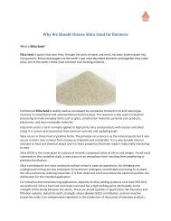 Why We Should Choose Silica Sand for Business