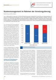 Kostenmanagement im Rahmen der Anreizregulierung - BET Aachen