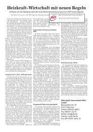 Heizkraft-Wirtschaft mit neuen Regeln - BET Aachen
