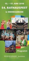 Rathausfest 2018 Programmheft
