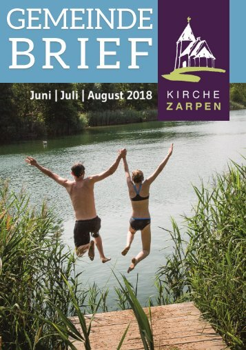 Gemeindebrief Juni Juli August 2018 ONLINE