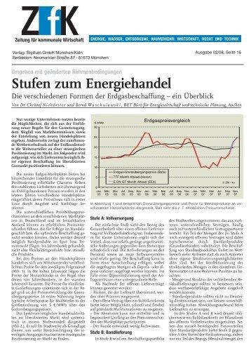 Stufen zum Energiehandel - BET Aachen