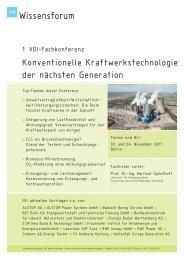 06CO001011 Konventionelle Kraftwerkstechnologie ... - BET Aachen