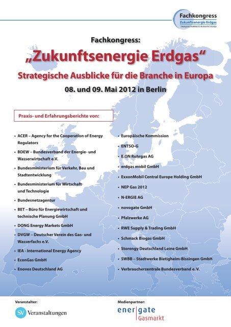 """Fachkongress: """"Zukunftsenergie Erdgas"""" - BET Aachen"""