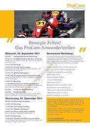 Das ProCom-Anwendertreffen - BET Aachen
