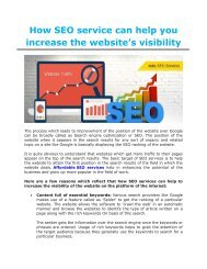 How SEO Services can help in Increasing your Website's Visibility.