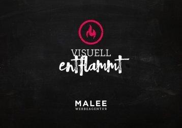 VISUELL ENTFLAMMT - Imagebroschüre der MALEE WERBEAGENTUR
