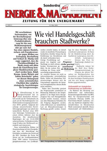 energie&management energie&management zeitung ... - BET Aachen