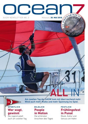 Alpe Adria Sailing Week 2018 – Tag 3, 30.5.