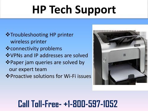 HP Tech Support Number 1-800-597-1052