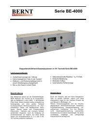 Serie BE-4000 - Bernt GmbH