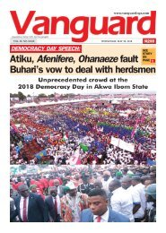 30052018 - Democracy Day Speech: Atiku, Afenifere, Ohanaexe fault Buhari's vow to deal with herdsmen