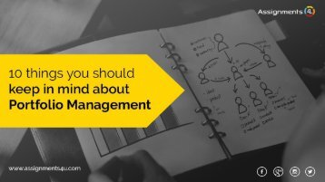 There are 10 Things You Should Keep In Mind about Portfolio Management
