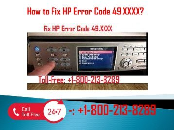 1-800-213-8289 Fix HP Error Code 49.XXXX